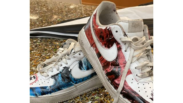 Using liquid wrap To Paint Shoes