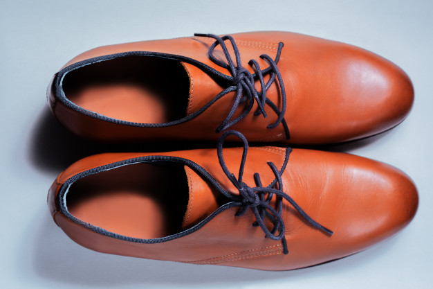 leather shoe surface